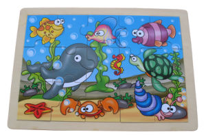 Wooden Magnetic Fishing Puzzle with Fishing Pole pictures & photos