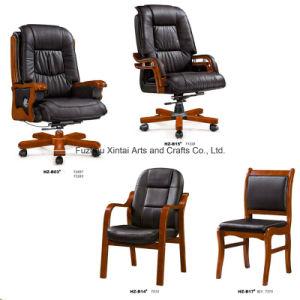 Elegant Office Chair with Wood Leg