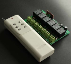 12V 6 Channels Garage Door 433/315MHz RF Remote Control Switch Motor Controller pictures & photos