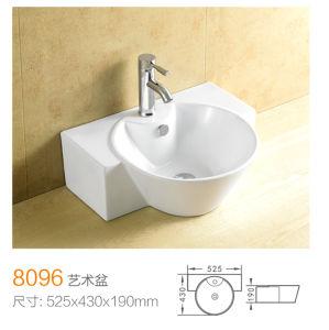 Porcelain Single Faucet Hole Washhand Basin 8096 pictures & photos