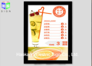 Wall Hanging Snap Aluminum Frame LED Light Box Sign for Menu Board Advertising Display pictures & photos