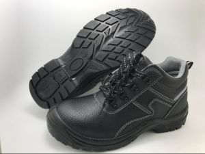 Industrial Leather Safety Shoes with PU Sole (SN5452) pictures & photos