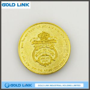 Custom 3D Antique Gold Souvenir Coin Metal Challenge Coin Emblem pictures & photos