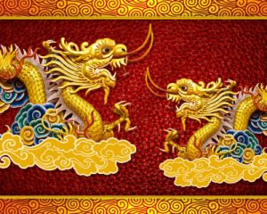 Two Dragons Chinese Styel Oil Panitng for Home Decoration pictures & photos