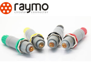 Raymo P Series Electronic Colorful Plastic Connector Push-Pull Selflock Lemos Connector pictures & photos