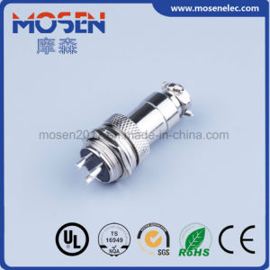 Gx12 Connector 3 Hole Joined Type Flange Panel Mount 13mm Circular Aviation Connector pictures & photos