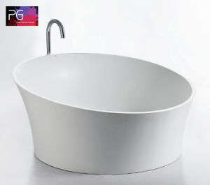 Pg High-End Bathroom Pure Resin Stone Walk in Bathtub pictures & photos