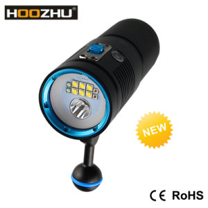 Hoozhu V40d Diving Equipment Max 4500lm Diving Video Flashlight+Spotlight pictures & photos