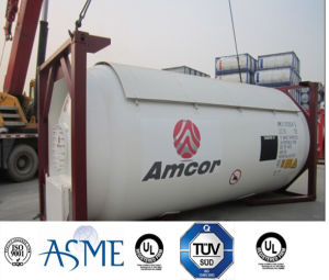 High Quality 51000L 40FT 22 Bar Pressure Carbon Steel LPG Tank Container Approved by ASME U2, GB with Valves pictures & photos