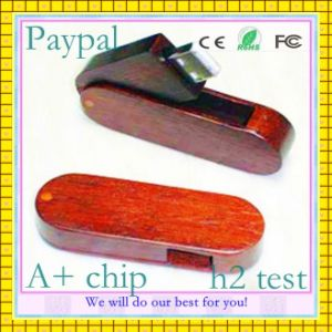 Free Sample Swivel Wood USB Flash Drive (GC-W60) pictures & photos