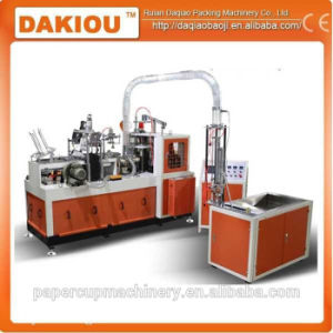Medium Speed Paper Cup Machine with Automatic Lubrication System pictures & photos