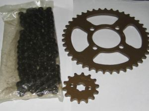 Motorcycle Sprocket-Chain-Cg125 Jh70 pictures & photos