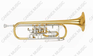 High Grade Rotary Trumpet (TR-400L) / Brass Instrument Trumpet pictures & photos