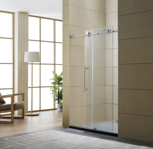 Two Tempered Glass Sliding Shower Door (BR-01) pictures & photos