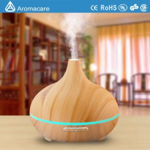 300ml Wood Grain Ultrasonic Aroma Diffuser with Colorful Changing Light (TA-038) pictures & photos