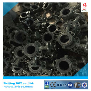 BLACK COLOUR CAST IRON BODY WAFER TYPE PN 16 PN10 BUTTERFLY VALVE DIN STANDARD BCT-DKD71X-14 pictures & photos
