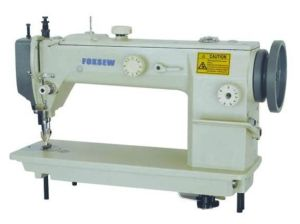 Long Arm Top and Bottom Feed Lockstitch Sewing Machine pictures & photos