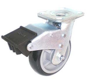 EH07 Swivel PU Caster with Dual Brake (Black) pictures & photos