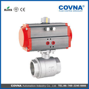 Ss304 Threaded 2 PCS Pneumatic Ball Valve pictures & photos