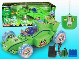 Cartoon Stunt RC Car Ben 10 With Flashing (D3955)