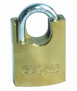 Iron Padlock with Half Covered Shackle (SS-048) pictures & photos
