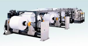 Paper Sheeting Machine (4 rolls loaded) pictures & photos