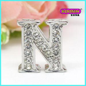 Manufacture Wholesale Bracelet Slide Crystal Letter Charm pictures & photos