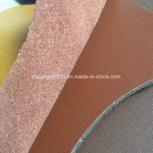 Latest Fashion Microfiber Leather Combine Split Leather for Shoes pictures & photos