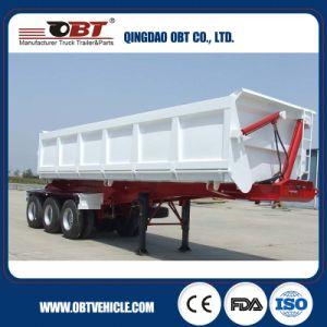 3 Axle 50 Ton Rear Side Dumper Tipper Body Truck Semi Trailer pictures & photos