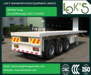 3 Axle Flatbed Trailer pictures & photos