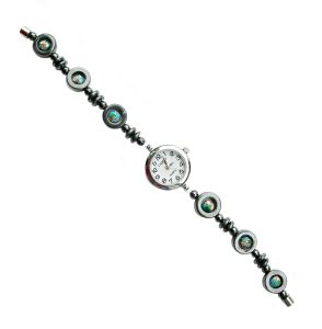 Magnetic Hematite Bracelet Watch with Magnetic Clasp