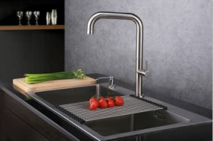 Brushed Nickel PVD Finished Kitchen Faucet Kitchen Tap pictures & photos