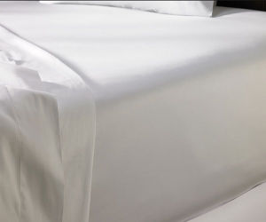 Deluxe 100% Cotton Satin Fitted Sheet for Star Hotel and Home (DPFB8053) pictures & photos