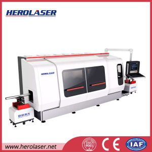 Made in China Fiber Metal Laser Cutting Machine with CNC Rotary Chuck pictures & photos