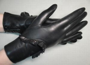 Lady Fashion Leather Gloves (JYG-23011) pictures & photos