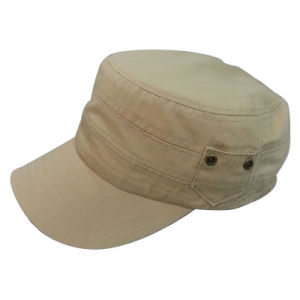 Hot Sale Washed Military Cap Without Logo Mt14 pictures & photos