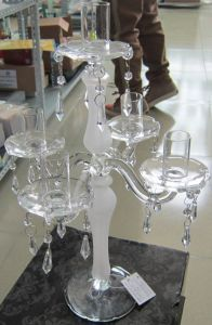 Frosting Glass Candle Holder with Five Posters., , pictures & photos