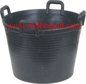 Recycled Rubber Bucket Pail Tank Barrel (5607)
