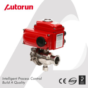 Food Grade/Sanitary Ball Valve with Electric Actuator pictures & photos