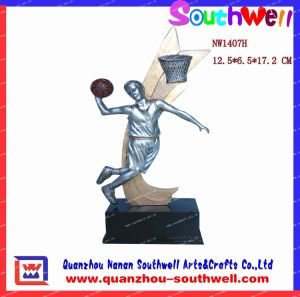 Polyresin Basketball Trophies Action Figurine (NW1407H)