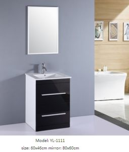 Bathroom Cabinet MDF with Veneer Ceramic Basin pictures & photos