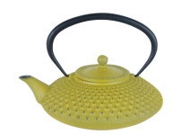 Cast Iron Teapot with Yellow Coating (CL1D-CCS8125-3) pictures & photos
