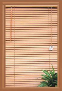 25mm Wood Blinds Timber Horizontal Window Covering pictures & photos