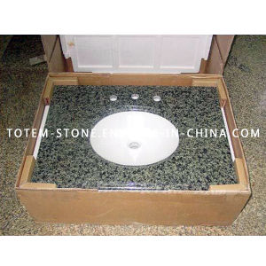 Discount Natural Granite Stone Bathroom Countertop Vanitytop with Sink pictures & photos