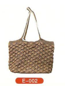 Brown Straw-Woven Handbag (E-002)