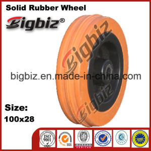 Replacement 100X28 Rubber Caster Wheel for Trolly pictures & photos