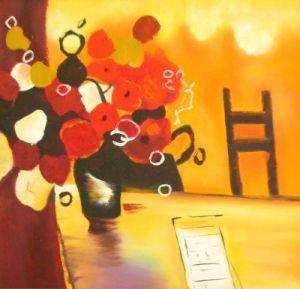 Framed Art - Hand Brush Stroke Oil Painting On Canvas (YH0035)