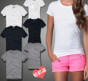 Fashion Women′s Summer T Shirt with Short Sleeves pictures & photos