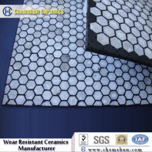 92% Alumina Oxide Hex Tiles Imbedded Into Rubber pictures & photos