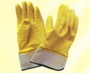 Interlock Full Coated Latex Gloves L1701 pictures & photos